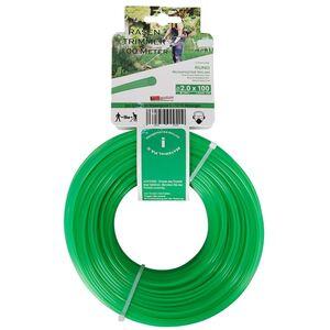 Ersatzfaden für Rasentrimmer 100m Grün