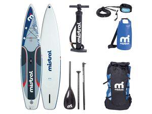mistral Race Stand up Paddleboard, 180 kg Belastbarkeit, 1 US-Mittelfinne, Doppelkammer