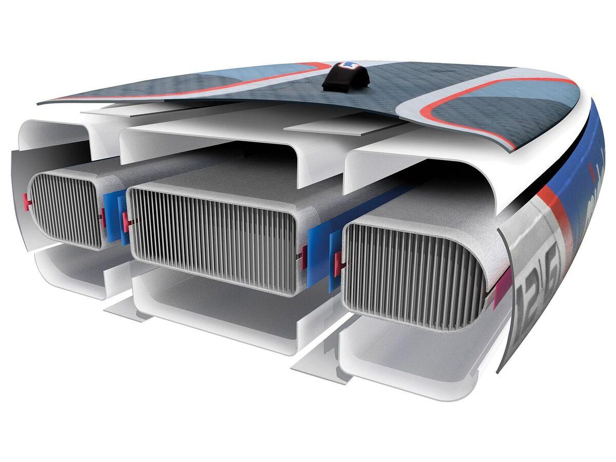 Bild 3 von mistral Race Stand up Paddleboard, 180 kg Belastbarkeit, 1 US-Mittelfinne, Doppelkammer