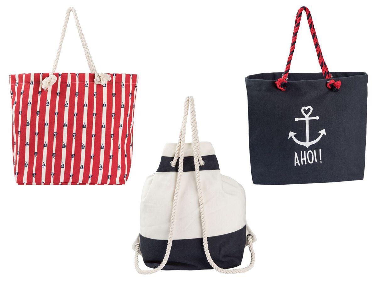 Bild 1 von ESMARA® Strandtasche/ Seesack, mit Reißverschluss, geräumiges Hauptfach, Innentasche