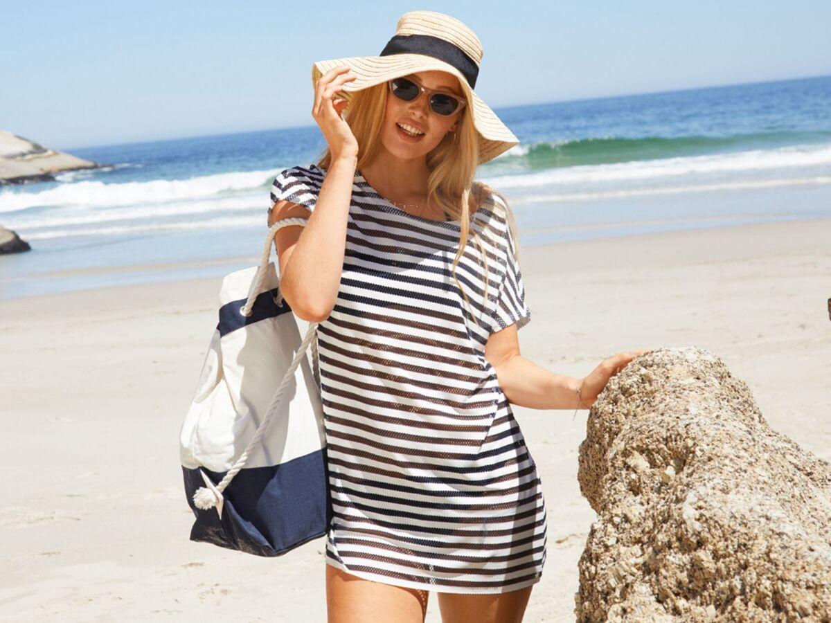 Bild 5 von ESMARA® Strandtasche/ Seesack, mit Reißverschluss, geräumiges Hauptfach, Innentasche