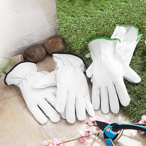 Powertec Garden Ziegenleder-Gartenhandschuhe