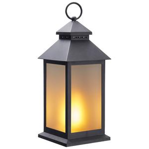 LED-Laterne Feuer (batteriebetrieben, schwarz)