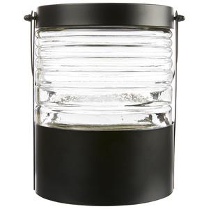 Laterne aus Glas und Metall (Ø 14 cm)