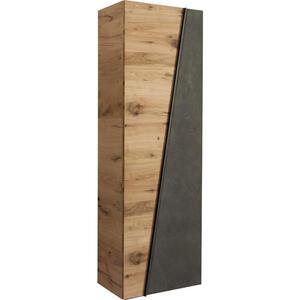 GARDEROBENSCHRANK Eiche furniert, mehrschichtige Massivholzplatte (Tischlerplatte) geölt Grau, Eichefarben