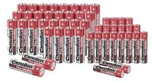 Alkaline Batterie Sparset - 48-teilig mit praktischer Aufbewahrungsbox Camelion