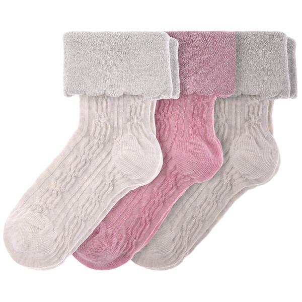 3 Paar Baby Socken mit Glitzer