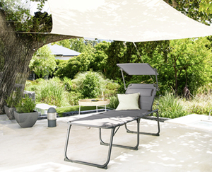 GARDENLINE®  Aluminium-Komfort-Sonnenliege XXL