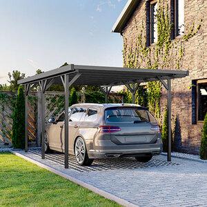 Carport aus Aluminium, anthrazit
