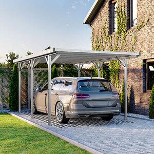 Carport aus Aluminium, natur