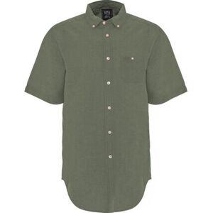 Globetrotter Leinenhemd, mit Logostickerei, Knopf an der Brusttasche, für Herren