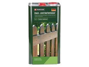 PARKSIDE® Holzlasur, 5 Liter, Schutz gegen UV-Licht, Wetter und Streusalz, holzbraun