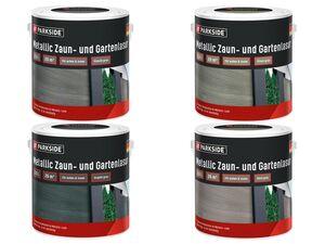 PARKSIDE® Metallic Zaun-/Gartenlasur, 2,5 l , für Holz, witterungsbeständig, UV-beständig