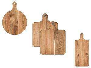 ERNESTO® Schneidebrett, Griff mit Metallöse, aus Akazienholz, schnittfest
