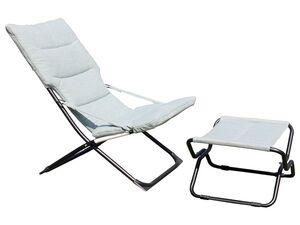 Leco Gartenstuhl mit Hocker »Mia-Maria«, In- und Outdoor, zusammenklappbar