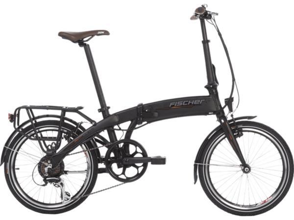 FISCHER FR 18 Citybike (20 Zoll, 30 cm, Faltrad, 317 Wh, Schwarz matt)