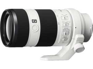 SONY SEL70200G 70 mm-200 mm f/4 G-Lens, OSS, ED, FRL, DMR, Circulare Blende (Objektiv für Sony E-Mount, Weiß)