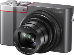 PANASONIC Lumix DMC-TZ101 LEICA Digitalkamera Anthrazit/Silber, 20.1 Megapixel, 10x opt. Zoom, LCD-Display