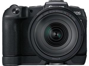 CANON EOS RP + Bajonettadapter EF-EOS R Systemkamera 26.2 Megapixel mit Objektiv 24-105 mm , 7.5 cm Display   Touchscreen, WLAN
