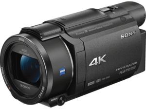 SONY FDR-AX53 Zeiss Camcorder 4K UHD, Exmor R CMOS 8.57 Megapixel, 20x opt. Zoom