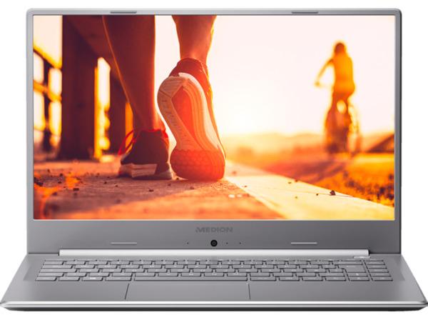 MEDION AKOYA® P6645, Notebook mit 15.6 Zoll Display, Core™ i7 Prozessor, 12 GB RAM, 512 GB SSD, 1 TB HDD, GeForce® MX150, Silber