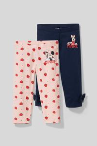 Minnie Maus - Capri-Leggings - Bio-Baumwolle - 2er Pack