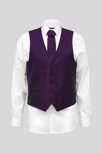 C&A Businessweste mit Krawatte-Regular Fit, Lila, Größe: 56