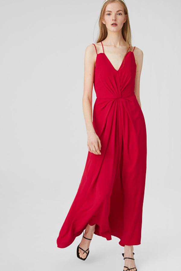 C&A Column Kleid-festlich, Rot, Größe: 46 von C&A ansehen!