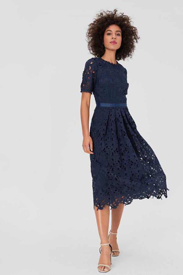 C&A Fit & Flare Kleid-festlich, Blau, Größe: 42 von C&A ...