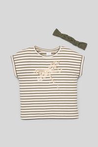 Set - Kurzarmshirt und Haarband - Bio-Baumwolle