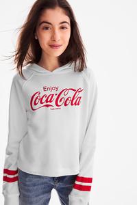 C&A Coca-Cola-Sweatshirt, Weiß, Größe: 170/176