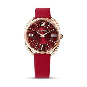 Swarovski Damenuhr Crystalline Glam Uhr, Lederarmband, 5519219
