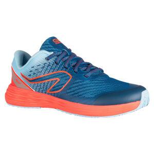 Laufschuhe Leichtathletik AT 500 Kiprun Fast Kinder hellblau/neonrosa