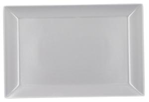Servierplatte rechteckig Weiß