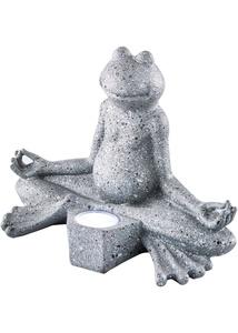 Solar Deko Yoga-Frosch