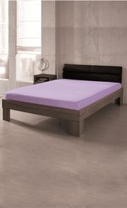 Dreamtex Premium Jersey Spannbetttuch 90-100x200 cm, Flieder