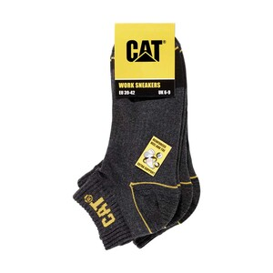 CAT  Herren-Worksneakersocken mit verstärkter Ferse und Spitze, Größe: 39/42 - 43/46, 3er-Pack