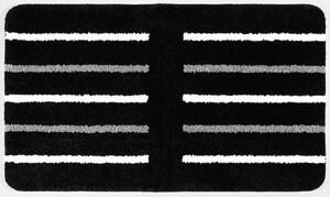 Sensino XXL-Mikrofaser Badteppich ca. 70 x 120 cm, Trino Schwarz