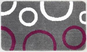 Sensino XXL-Mikrofaser Badteppich ca. 70 x 120 cm, Zyrah Grau