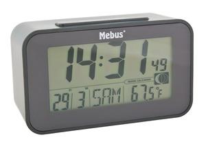 Mebus LCD Funk- Wecker, Schwarz