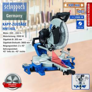 Scheppach Kapp-Zugsäge HM140L