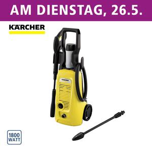 Hochdruckreiniger K4 Universal Edition • Arbeitsdruck: 130 bar • intergr. Reinigungsmitteltank • 6 m Hochdruckschlauch • inkl. Vario Power-Jet und Dreckfräse