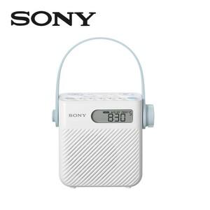 Duschradio ICF-S80 • Digitale Uhranzeige • Wasserdichtes Gehäuse • Gummiriemen zum Befestigen • bis zu 100 h Akkulaufzeit