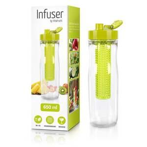 IDEENWELT Trinkflasche mit Infuser grün
