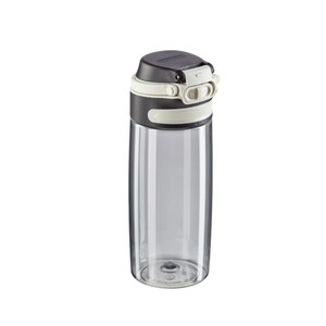 "Leifheit Trinkflasche ""Tritan Flip"" 550 ml in Silberoptik"