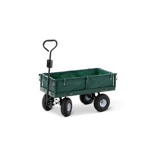 Gartenwagen mit Plane 50 x 79 x 89 cm grün