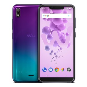 Wiko View 2 Go Dual-SIM lavendel/türkis Smartphone (5,93 Zoll, 32 GB, 4.000-mAh, 12 MP, Octa-Core, Fingerabdrucksensor)