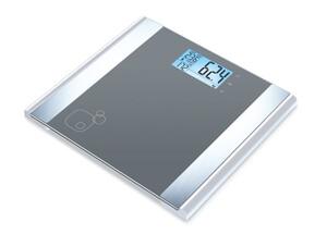 BEURER BG 05 Diagnosewaage (Sicherheitsglas, Display, 180 kg, Körperfett, Muskelanteil, 10 Benutzerspeicher, Einschaltautomatik)