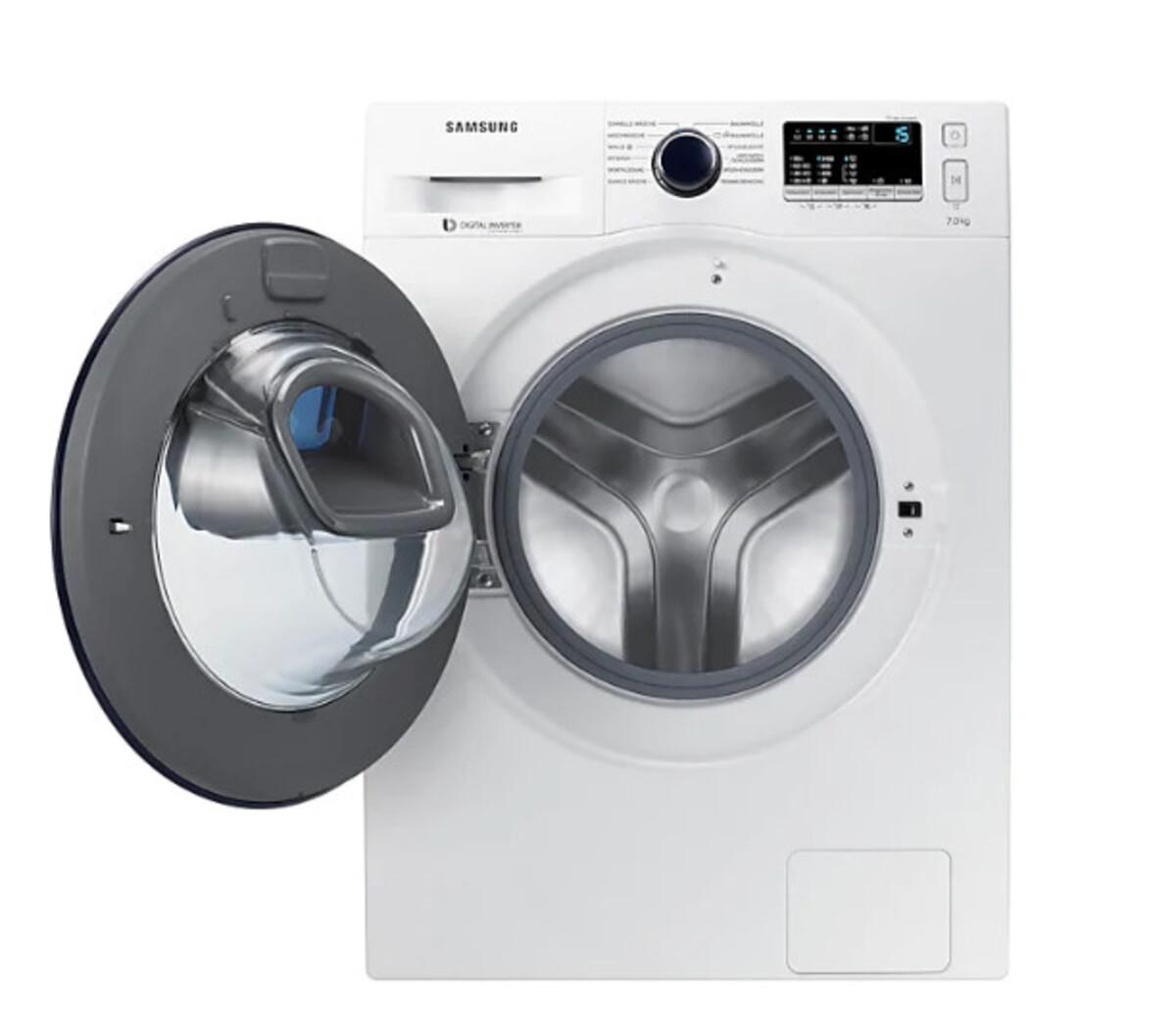 Bild 2 von Samsung Waschmaschine WW4500 WW70K44205W/EG (Energieeffizienzklasse A+++, 7 kg, 1.400 U/min, Diamond Pflegetrommel, Smart Check, weiß, Frontlader)