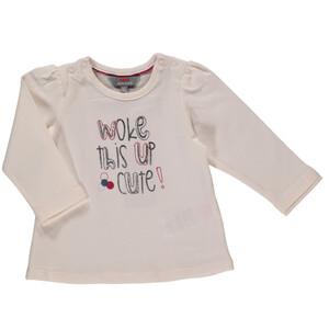 Baby Mädchen Langarmshirt mit Glitzerschrift